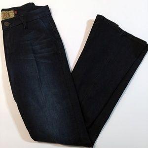 Dear John High-Waist Denim Jeans, Dark Wash, 27